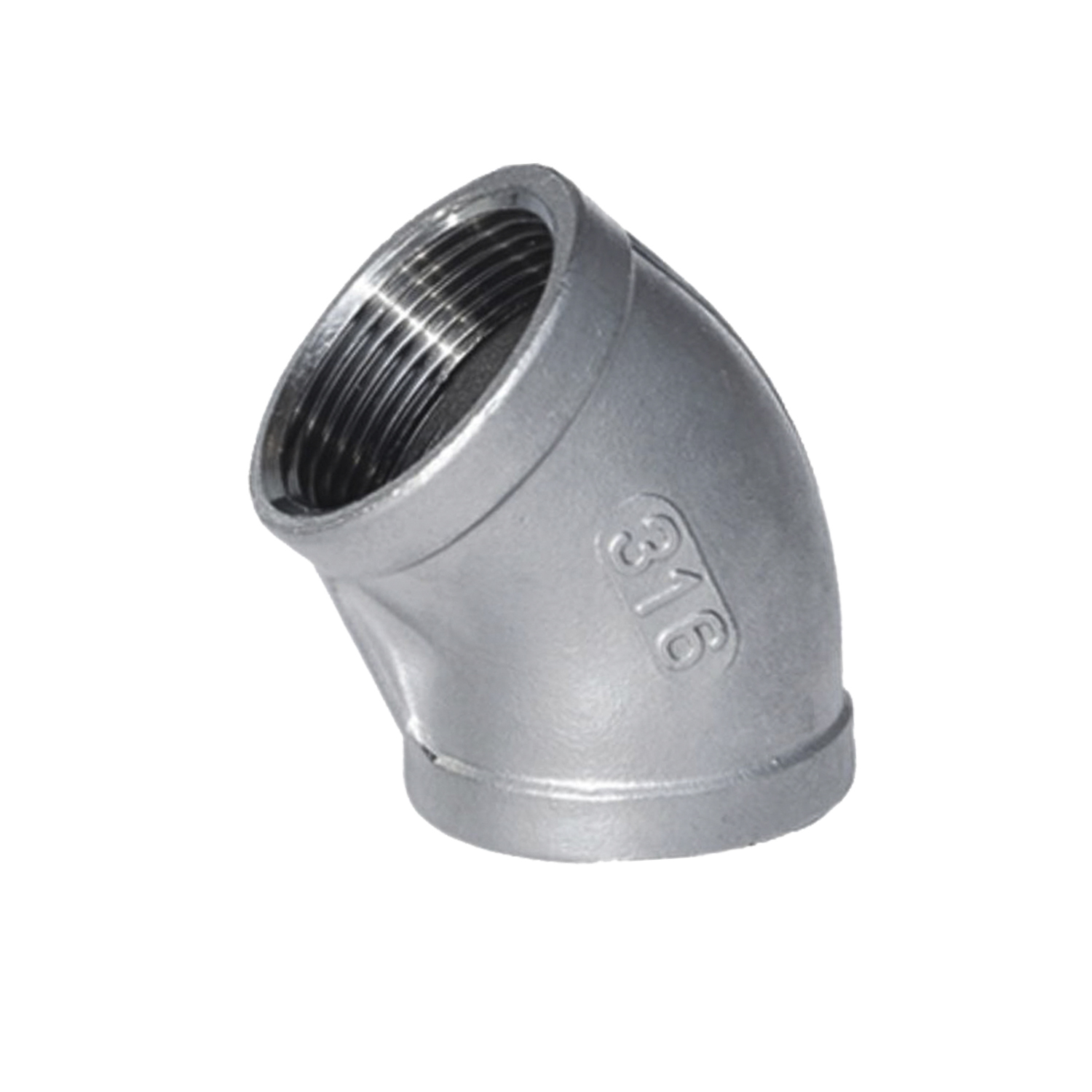Thread Specification : 1 14 Sturdy 10pcs 45 Degree Elbow 1//4-2 Female Fitting 304 Stainless Steel Pipe Biodiesel Degree